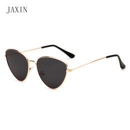 Sunglasses Multi Australia - JAXIN ashion triangle sunglasses Women personality multi-color metal frame sunglasses men brand design wild eyewear glassesUV400