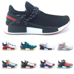 Chinese  New Human Race trail Solar Afro Pack Running Shoes Men Women Creme Nerd Pharrell Williams HU Runner SOLARHU Trainer Sport Sneaker Size 36-47 manufacturers