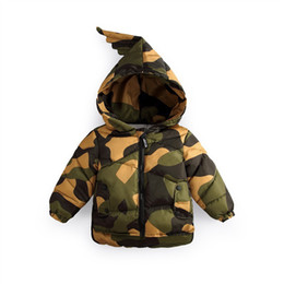 Baby Camouflage Jackets Australia - 2018 Baby Camouflage Down Jacket Cotton Down Coat Children's Winter Jacket Baby Warm Cotton Jacket Kids Outwear