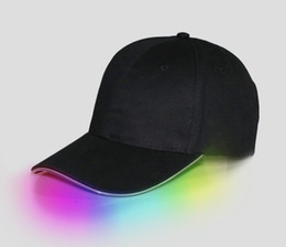 Glow Party Decorations UK - LED Light Hat Glow Hat Black Fabric For Adult Baseball Caps Luminous 7 Colors For Selection Adjustment Size Xmas Party