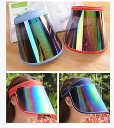 $enCountryForm.capitalKeyWord Canada - PVC Sunscreen Cap Cycling Visors For Car Anti UV Light Cap PC Sun Hat Colorful Board To Ride Sun Visors Sports Sun Hats