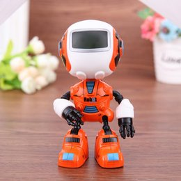 Discount toy monkeys sound - Intelligent induction robot 2018 Sensing Touch Multi-function Music Smart Mini Alloy Robot Kids Toy Gift gifts