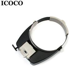 $enCountryForm.capitalKeyWord Australia - ICOCO LED Light Headband Jewelry Magnifying Glass Head Loupe Reading Magnifier Headband LED Light Magnifying Glass Lens Visor