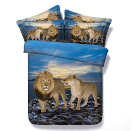 $enCountryForm.capitalKeyWord NZ - 3D lion leopard bedding sets animal duvet cover bedspreads blue comforter cover Bed Linen Quilt Covers silver bed cover for children kids
