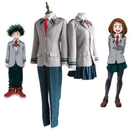 Uniforme scolastica Hero Academia Cosplay Costume Coat + Pant + Tie One Set Costumi anime