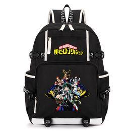 72d9fa9ab956 Anime Boku no Hero Academia Men BackpacTeenage Girl Backpack Boys Cartoon  My College Hero Children Laptop School Travel Bag