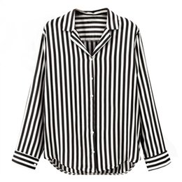 Discount striped shirts for women - Women Spring Autumn Striped Shirts Tops V-Neck Long Sleeve blouse for business Button Shirt Women Work Shirts office Top