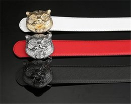 Types Belts Men Canada - 2018 Belt High Quality Brand Designer Belts Luxury Fashion Belts for Men Copper G Type Tiger Head Belt Men And Women Waist Cowhide Belt