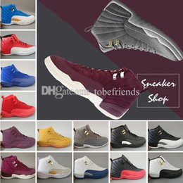 $enCountryForm.capitalKeyWord NZ - XII Basketball shoes 12 12s Bordeaux Dark Grey wool white Flu Game UNC Gym red taxi gamma french blue Suede sneaker Sports size us5.5-13