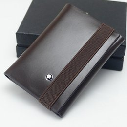 Lovers Clips Australia - Genuine Leather Man Folding Wallet Calfskin Luxury MB Wallet Credit Card Holder Cash Clip , Top Quality German Brand Cufflinks Lovers Gifts