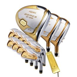 Discount honma golf clubs - New mens Golf clubs HONMA s-06 4 star golf complete set of clubs driver+fairway wood club+putter graphite golf shaft hea