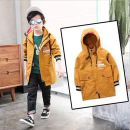 12 Jackets Canada - Children's wear new boys spring coat child casual jacket kids long outerwear boy clothes for 3 4 5 6 7 8 9 10 11 12 13 14 years