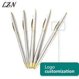 $enCountryForm.capitalKeyWord Australia - LZN Stainless steel rod rotating Metal ballpoint Pen Office Stationery Ballpen Free Engraved Text Logo for Employee & Customer
