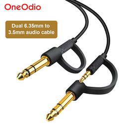 $enCountryForm.capitalKeyWord NZ - Oneodio Dual 6.35mm to 3.5mm Jack Adapter Aux Cable For DJ Headphone Mixer Amplifier Speaker Gold Plated Audio & Video Cables