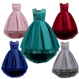 $enCountryForm.capitalKeyWord UK - Latest A-Line Lace Appliques Flower Girl Dresses Jewel sleeveless Kids Wear For Christmas party Weddings Pageant Girl Dresses