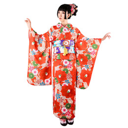 ba44c4039a ... finest selection bb5fc 51f8f Japanese Women Kimono Traditional Print  Floral Yukata Bathrobe Girl Cosplay Clothes Halloween ...