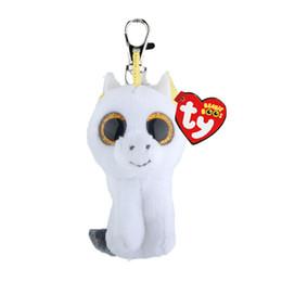 Ty Big Eyes Beanie Boo UK - Ty Beanie Boos Big Eyes Plush white Keychain Toy acb5a520d554