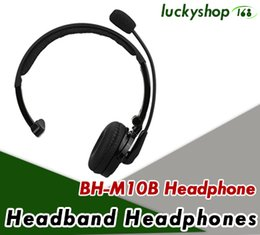 Wholesale truck tops online – design Top sale Mono BH M10B Multi point Wireless Bluetooth Headphone Headset Earphone with Mic for Truck Driver PS3 PC DHL