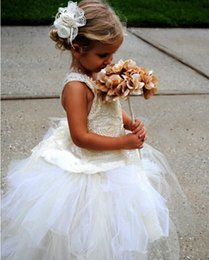 $enCountryForm.capitalKeyWord Australia - 2019 Beautiful Flower Girl Dresses for Wedding New Princess Tulle Party Birthday Communion Pageant Dress Little Girls Kids Children Dress