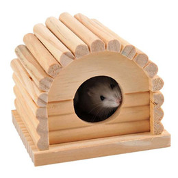 cute rabbit beds UK - Cute Small Animal Pet Rabbit Hamster House Bed Rat Squirrel Guinea Pig Winter Warm Hanging House Cage Nest Hamster Accessory