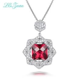 Necklaces Pendants NZ - Necklaces Pendants Fine Jewelry For Women S925 Sterling Silver 6ct Ruby Gemstone Red stone Luxury Juwelen P0059-W01