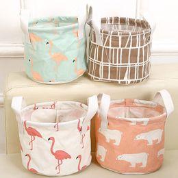$enCountryForm.capitalKeyWord Australia - Flamingo Bear Storage Baskets Bucket Kids Room Toys Bins Clothing Handle Organizer Laundry Bags Box 14*18cm DHL Ship HH7-426