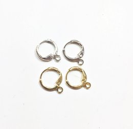 China Eruifa 20pcs 12mm outer inner Brass Hoop Clip for Earring DIY Charms 2 colors cheap diy copper earrings suppliers