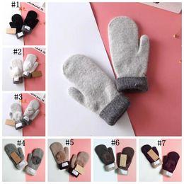 Soft fingerleSS gloveS online shopping - Fur Pom Pom Gloves UG Warm Mittens Colors Fluffy Soft Thick Windproof Heated Gloves Fingerless Girls Winter Gloves pairs OOA5905
