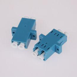 10PCS / sac LC à LC Duplex mode adaptateur de fibre optique adaptateur connecteur de bride de coupleur de fibre optique