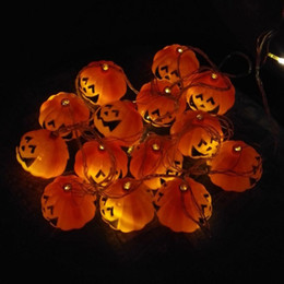 mini pumpkin decoration 2020 - Pary holiday Pumpkin shape Lights Mini String Lights pumpkin Strip Battery Operated Starry lights For Christmas Wedding
