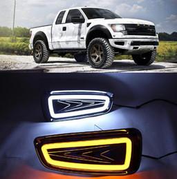 Running light foR foRd online shopping - 2Pcs For Ford Raptor F150 DRL Daytime Running light Fog Lamp cover driving light