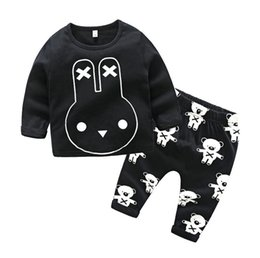 ff375667b Discount european style boy pants INS kids clothing baby letter outfits  children print top+Striped