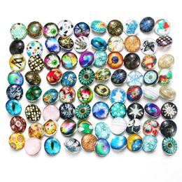 $enCountryForm.capitalKeyWord NZ - 50pcs lot Mixed Many Styles Snaps 18mm Glass Snap Button Fit Choker Buttons Watch Button Bracelet Snaps Jewelry 7858