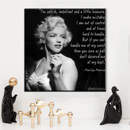 $enCountryForm.capitalKeyWord NZ - modern canvas wall art black white marilyn monroe portrait canvas pictures oil art painting for livingroom bedroom decor No Frame