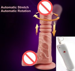 $enCountryForm.capitalKeyWord UK - Auto Stretch Auto Rotation Vibrating Penis Dildo Double Motors Sex Toys for Women Vibrator Sex Products Adult Toys Erotic Toy Vibrators