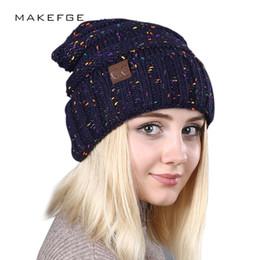 e450c105dfe 2018 New Hot Sale Ladies Fashion Brand CC Knit Beanie Hat Winter Woman Hat  Man Woman Beanies Warm Skullies Thicken Hedging Cap