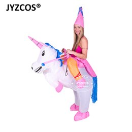 inflatable adults halloween costumes UK - Sexy Inflatable Unicorn Costumes Carnaval Princess Outfit Purim Party Fancy Dress Halloween Costumes for Kids Women Men Adult S920