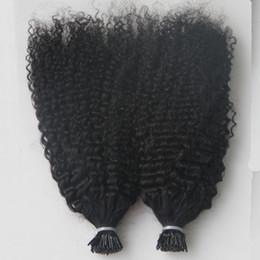 Keratin virgin hair online shopping - Virgin Mongolian Afro Kinky Curly Hair Whole head G I Tip Human Hair Extensions Pre Bonded keratin stick tip hair extensions S