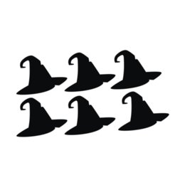 $enCountryForm.capitalKeyWord NZ - Factory Price 2 Pcs Lot Waterproof Halloween Black Witch Hat Wall Sticker for Living Room Bedroom Furniture Background Sticker