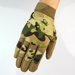men winter gear 2019 - 2017 Autumn Winter New Multicam  Army  Shooting Gear Full Finger Gloves Warm Protecting Gloves 5 Colors cheap men winter