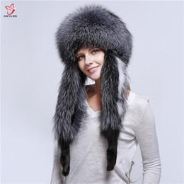 $enCountryForm.capitalKeyWord NZ - Hot Sale Fur Hat For Women Natural Fox Fur Russian Ushanka Hats Winter Thick Warm Ears Fashion Bomber Cap New Arrival