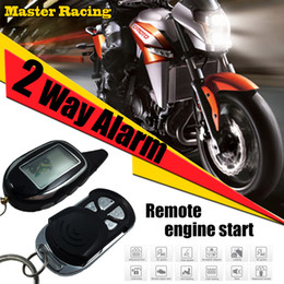 Engine Start Australia - 2 Two Way Motorcycle LCD Display Alarm Anti-theft System With Motion Sensor Longe Range Remote Engine Start Stop