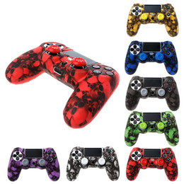 ps4 cover skin 2019 - Skull Camouflage Camo Silicone Soft sleeve Skin Cover Case For Playstation 4 PS4 Pro Slim Controller Gamepad DHL FEDEX E