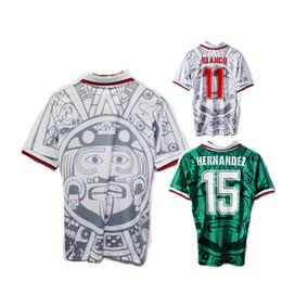 1998 MEXICO RETRO VINTAGE BLANCO soccer jerseys Thailand Quality uniforms Football  Jerseys shirt Embroidery Logo camiseta de futbol a9962e839