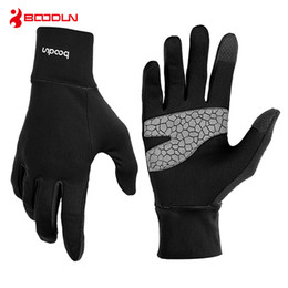 touch fingers 2018 - BOODUN Driving Gloves Touch Screen Cycling Outdoor Full Finger Windproof Road Mountain Bicycle Gloves Mobile Phone Glove