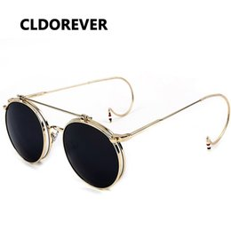 7cc87b6bfc5 Hot Sale 2018 Vintage Steampunk Sunglasses Metal Steam Punk Goggles Retro  Round Sun Glasses For Women Men Brand Designer Gafas