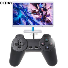 Discount usb game controller for pc gamepad - OCDAY USB 2.0 Gaming Gamepad Joystick Wired Game Controller For Laptop Computer PC Drop ship