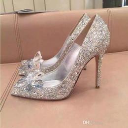868e5ab973db Bridal shoes red color online shopping - Top Grade Cinderella Crystal Shoes  Bridal Rhinestone Wedding Shoes