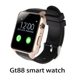 smartwatch heart rate gps UK - GT88 Smart Watch Monitor Bluetooth Smartwatch Support SIM Card Heart Rate Waterproof Smartwatches for IOS Android Phones 770009-1
