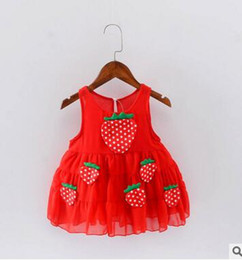 e68093f71 Girls Dresses Strawberries UK - 2017 fashion NEW kids Fashion summer Girls  Dress girl lovely Baby
